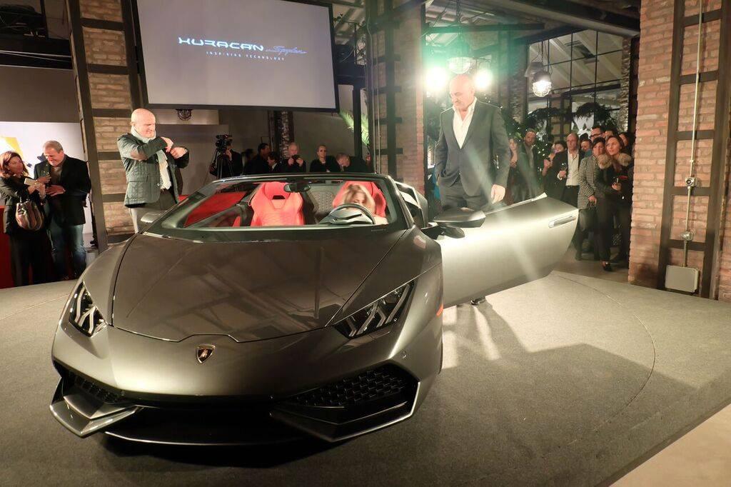 Presentazione Lamborghini Huracan spyder